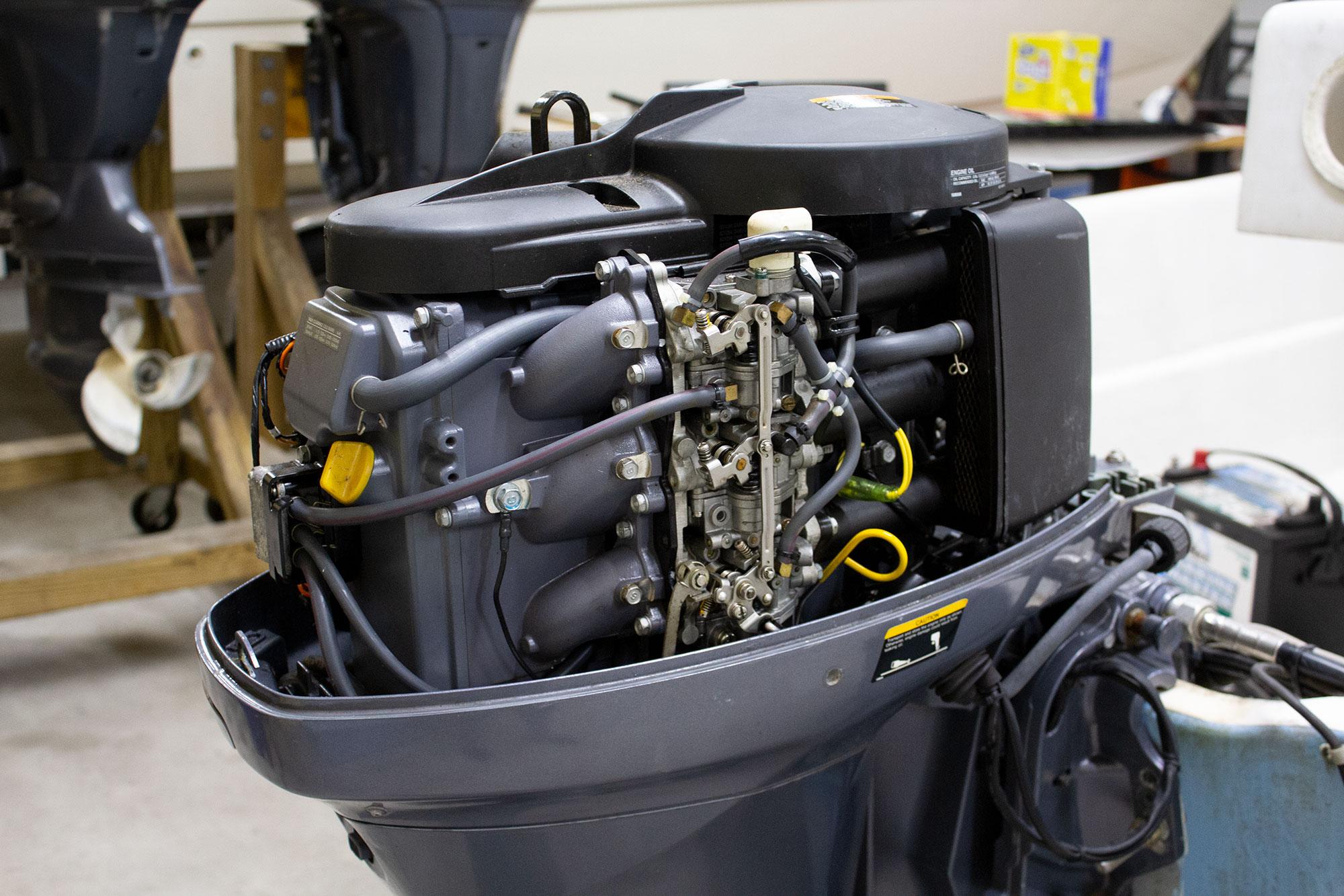 Close up of Yamaha Engine